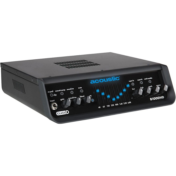 Acoustic B1000HD 1,000W Bass Amp Head