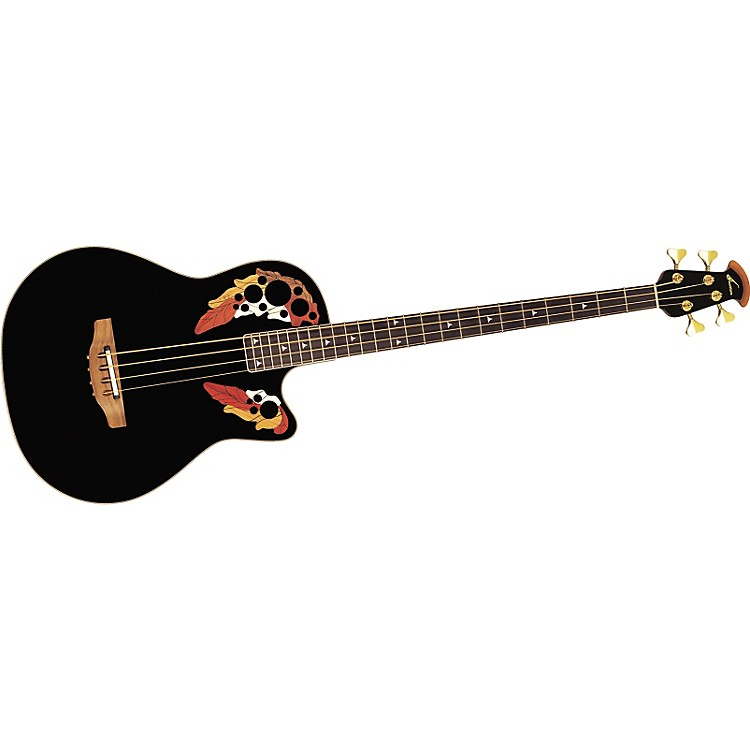 Ovation B778 Acoustic-Electric Bass Guitar Black