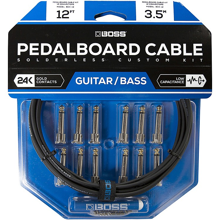 BossBCK-12 Pedalboard Cable Kit, 12 Connectors12 ft.Black