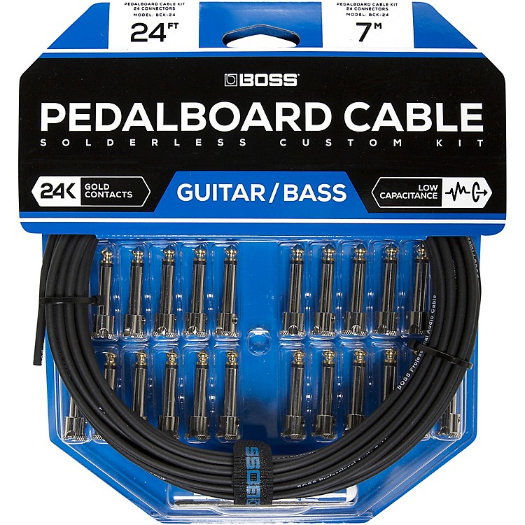 BossBCK-24 Pedalboard Cable Kit, 24 Connectors24 ft.Black