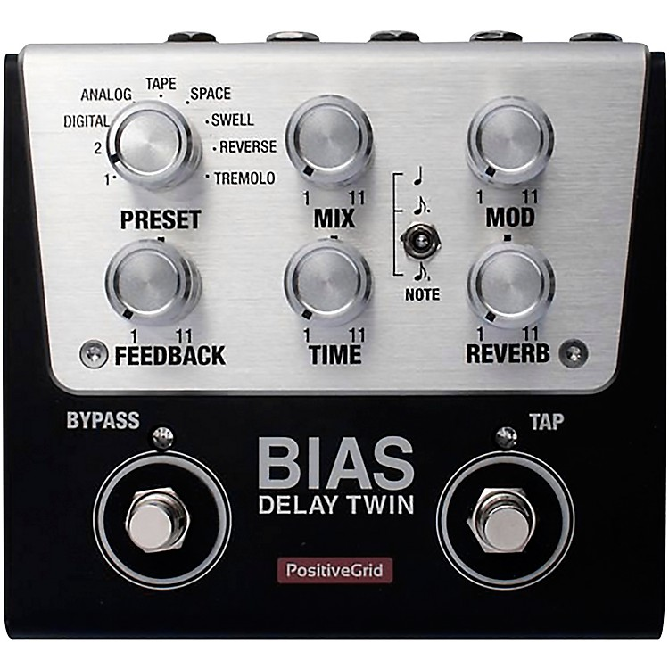 Positive Grid BIAS Delay Twin Effects Pedal