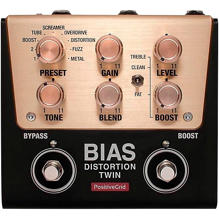Positive GridBIAS Distortion Twin Tone Match Distortion Effects Pedal