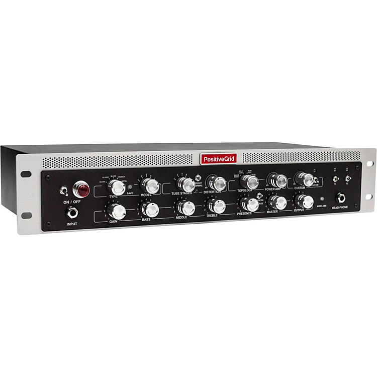 Positive Grid BIAS Rack Guitar and Bass Amplifier Head Black and Silver