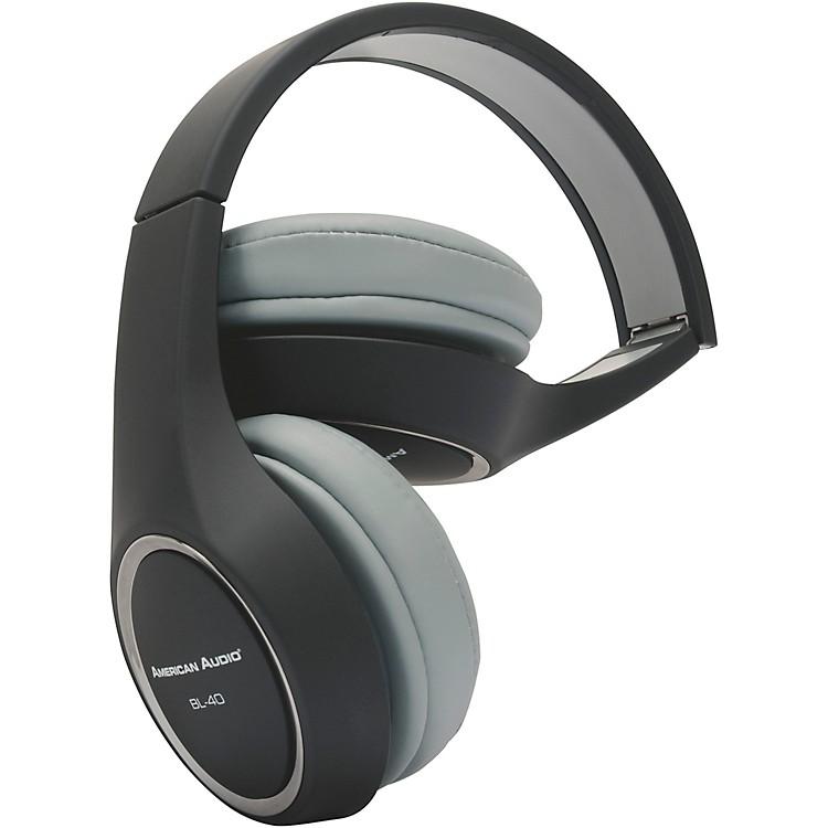 American AudioBL-40 Folding On-Ear HeadphonesBlack
