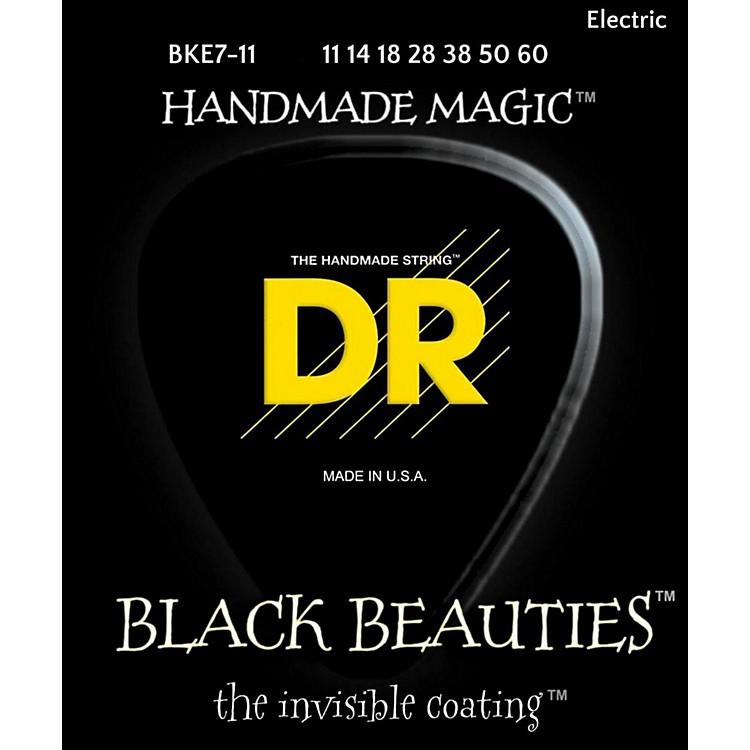 DR StringsBLACK BEAUTIES Black Coated Heavy 7-String Electric Guitar Strings (11-60)