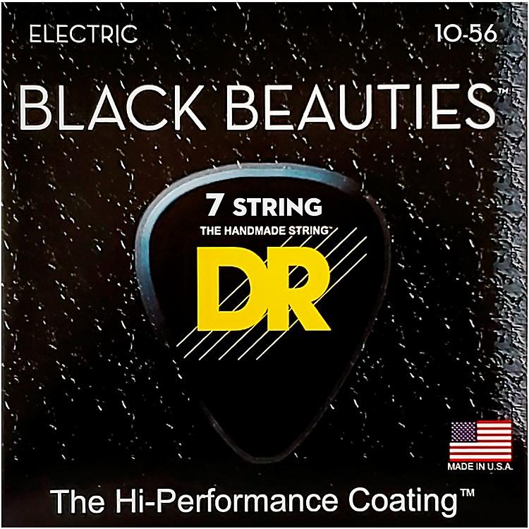 DR StringsBLACK BEAUTIES Black Coated Medium 7-String Electric Guitar Strings (10-56)