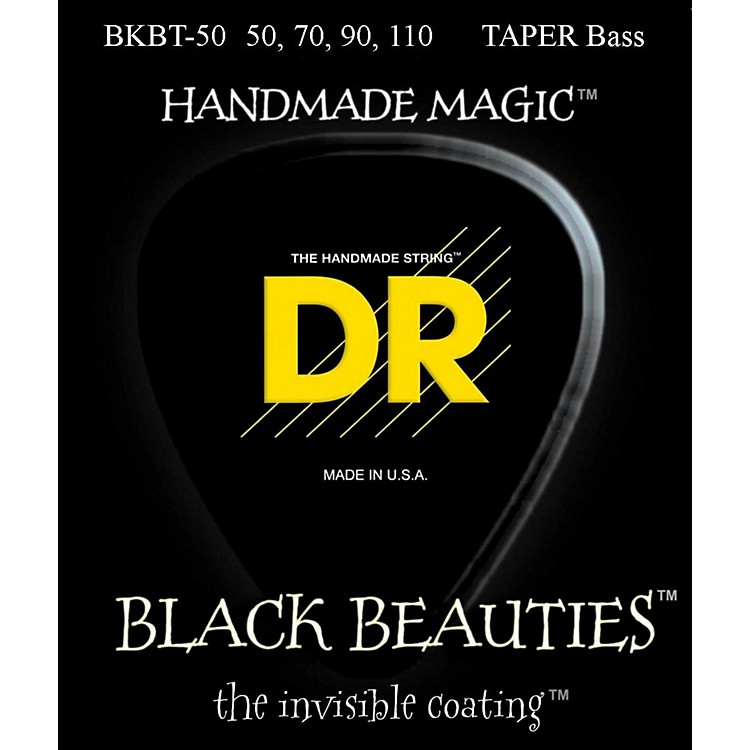 DR StringsBLACK BEAUTIES Taper Coated 4-String Bass Heavy (50-110)