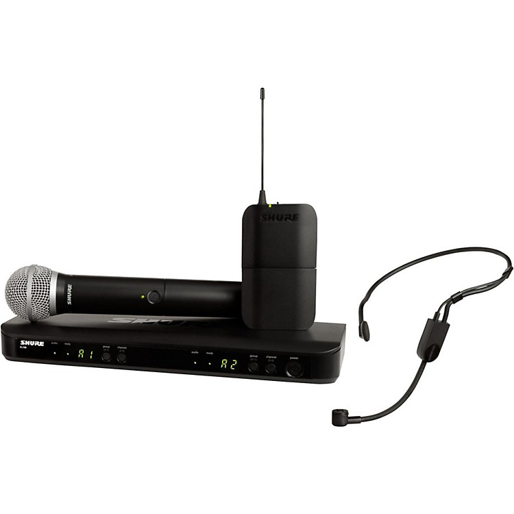 Shure BLX1288 Combo System with PGA31 Headset microphone and PG58 handheld microphone Band H9