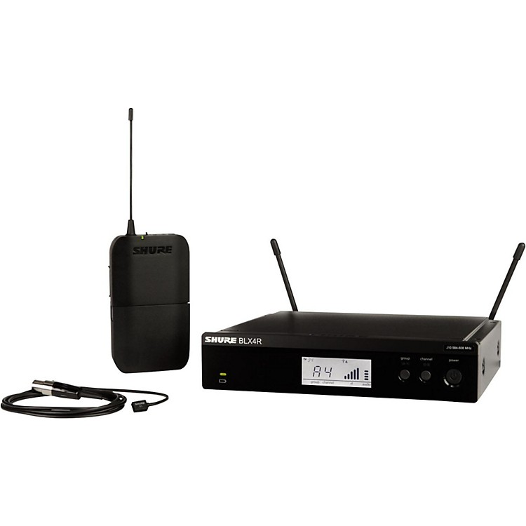 Shure BLX14R/W93 Wireless Lavalier System with WL93 Omnidirectional Condenser Miniature Lavalier Mic Band H9