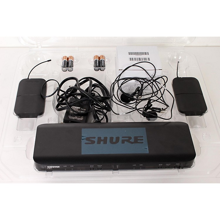 Shure BLX188 DUAL Lavalier System with CVL Lavalier microphone Band H10 888365908915