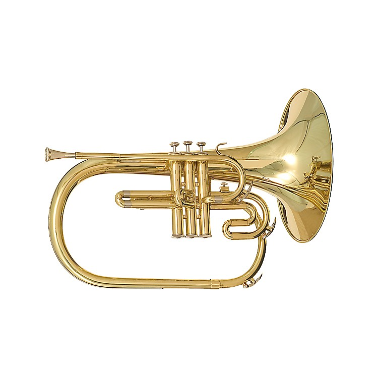 Blessing BM-400 Series Marching Bb French Horn Silver 888365936536