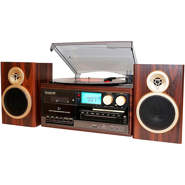 BoytoneBT-28SPM, 8-in-1 Bluetooth Classic Style Record PlayerMahogany