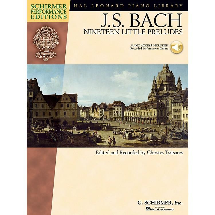 G. SchirmerBach - Nineteen Little Preludes Schirmer Performance Edition BK/Audio Online Edited by Christos Tsitsaros