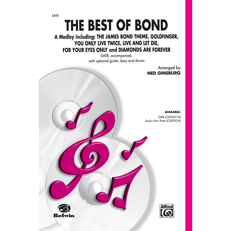 Alfred Bach Best of Bond (A Medley) SATB Choral Octavo