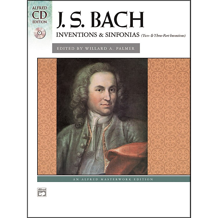 AlfredBach Inventions & Sinfonias (Two- & Three-Part Inventions) Piano Book & CD