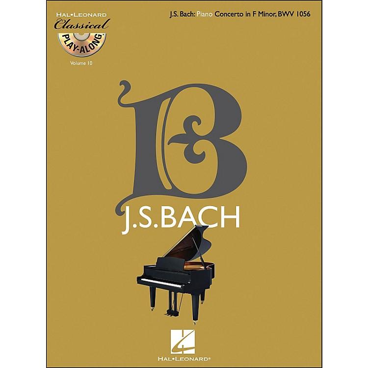 Hal LeonardBach: Piano Concerto In F Minor, Bwv 1056 - Classical Play-Along Book/CD Vol 10