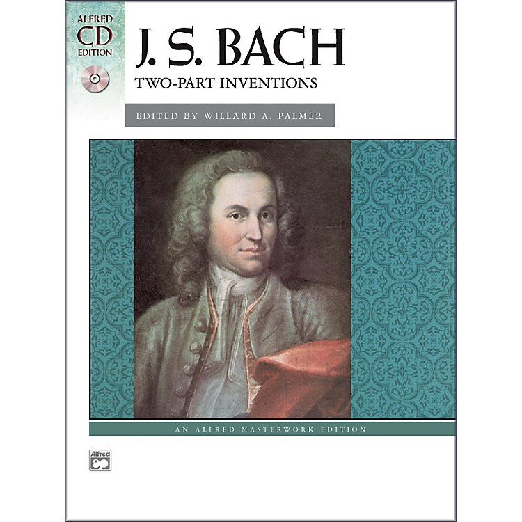 AlfredBach Two-Part Inventions Intermediate / Late Intermediate Book & CD Piano
