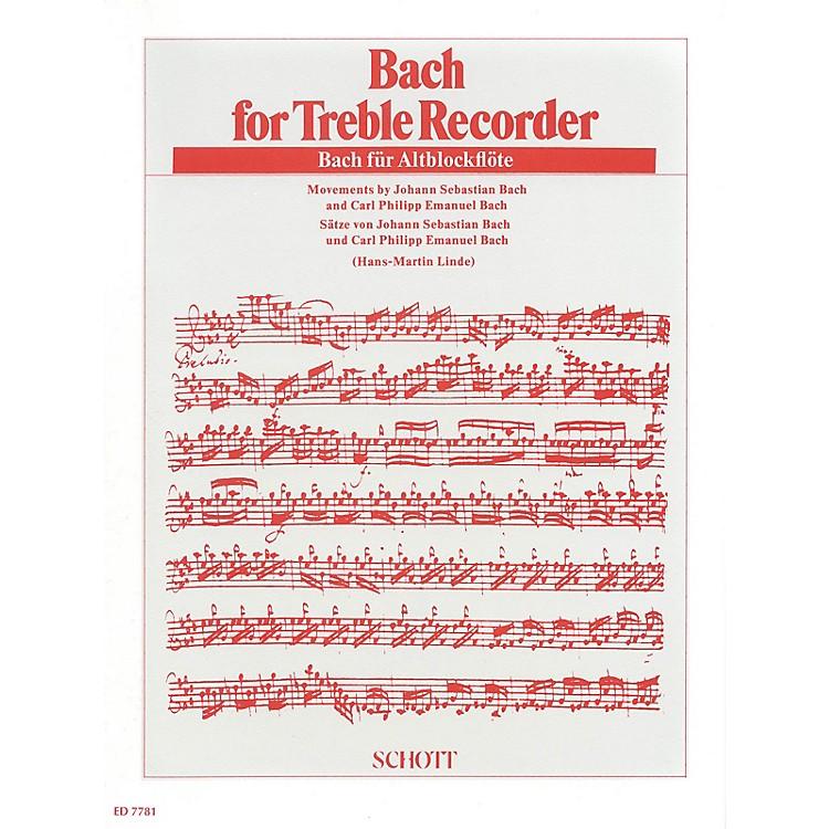 SchottBach for Treble Recorder Schott Series Softcover