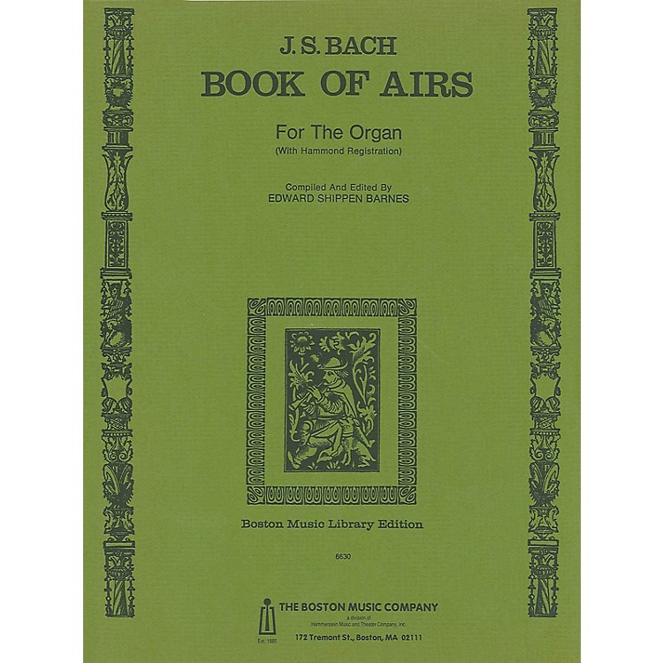 Music Sales Back Book Of Airs For Organ Music Sales America Series Softcover