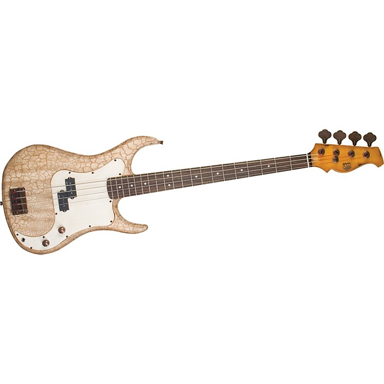 AXLBadwater AP-820 Electric Bass GuitarCrackle Brown/White