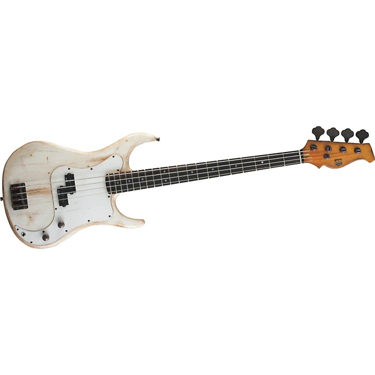 AXL Badwater AP-820 Electric Bass Guitar Crackle Brown/White