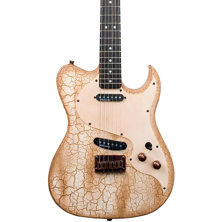 AXL Badwater Eldorado Electric Guitar Crackle Brown/White