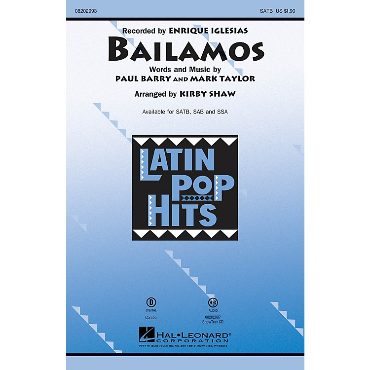 Hal Leonard Bailamos SSA by Enrique Iglesias Arranged by Kirby Shaw
