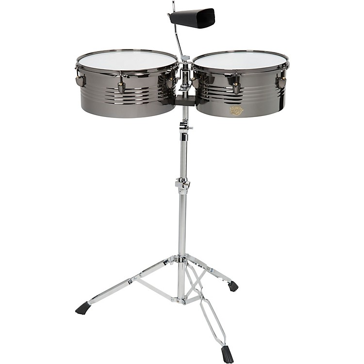 Sound Percussion LabsBaja Percussion Set of Timbales with Cowbell and Adjustable Stand13 and 14 in.Black Chrome