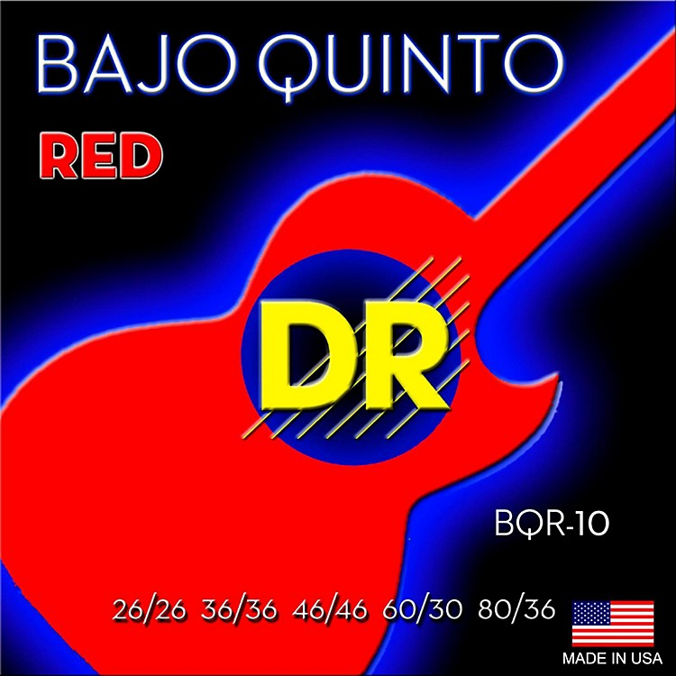 DR StringsBajo Quinto Red Coated 10 String