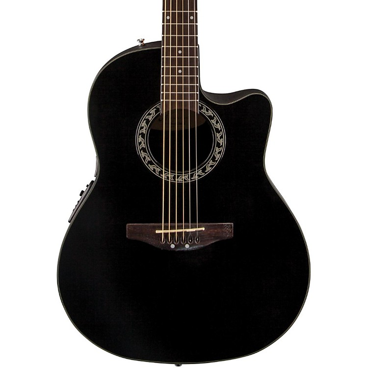 Applause Balladeer Mid Depth Bowl Acoustic-Electric Guitar Black