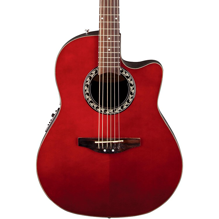 Applause Balladeer Mid Depth Bowl Acoustic-Electric Guitar Ruby Red