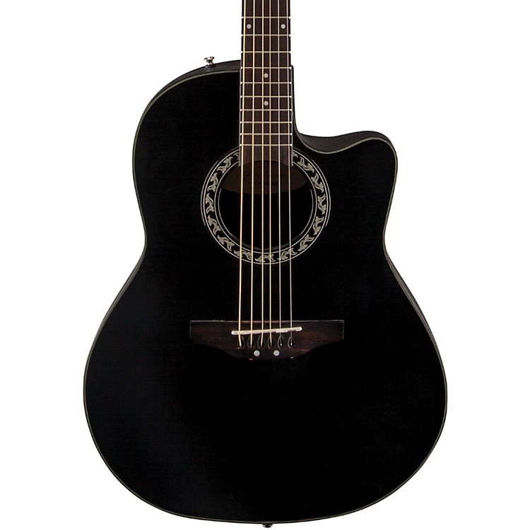 Applause Balladeer Mid Depth Bowl Acoustic Guitar Black