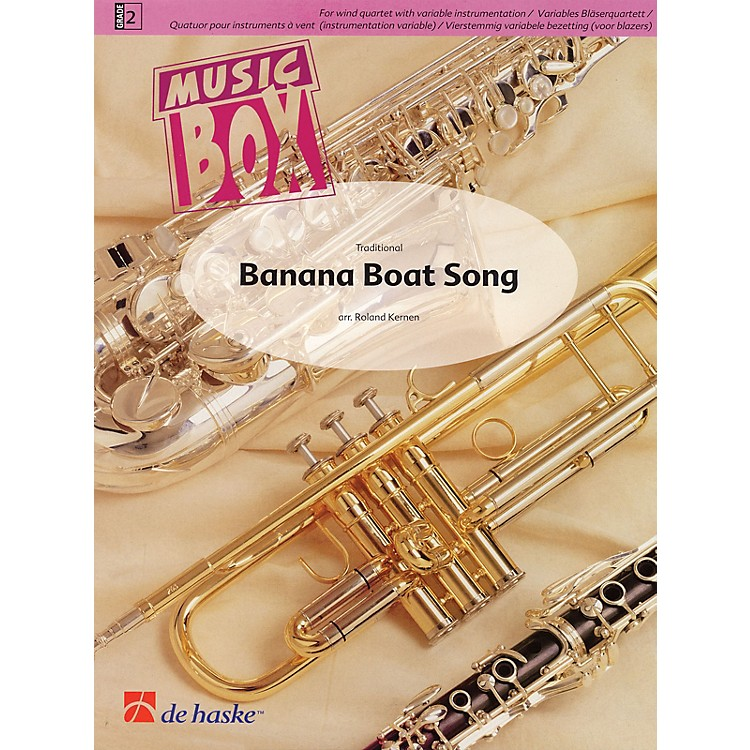 De Haske MusicBanana Boat Song (Music Box Variable Wind Quartet plus Percussion) Concert Band Level 2 by Roland Kernen