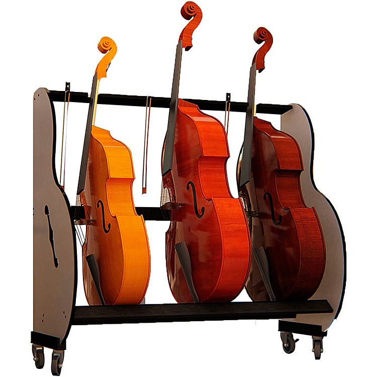 A&S Crafted Products Band Room Double Bass Rack 66.5 x 53 x 27 in.