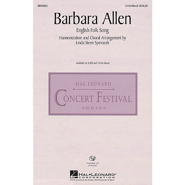 Hal LeonardBarbara Allen 3-Part Mixed arranged by Linda Spevacek