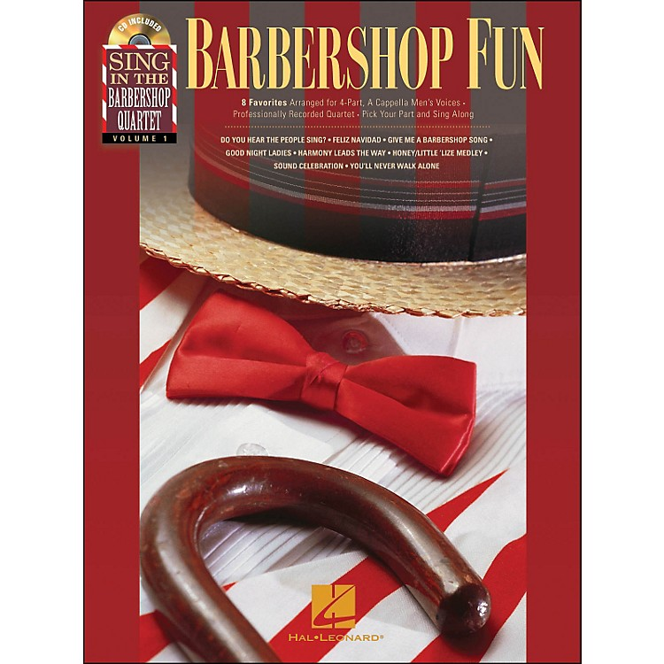 Hal Leonard Barbershop Fun - Sing In The Barbershop Quartet Series Vol. 1 Book/CD
