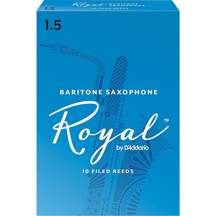 Rico Royal Baritone Saxophone Reeds, Box of 10 Strength 1.5