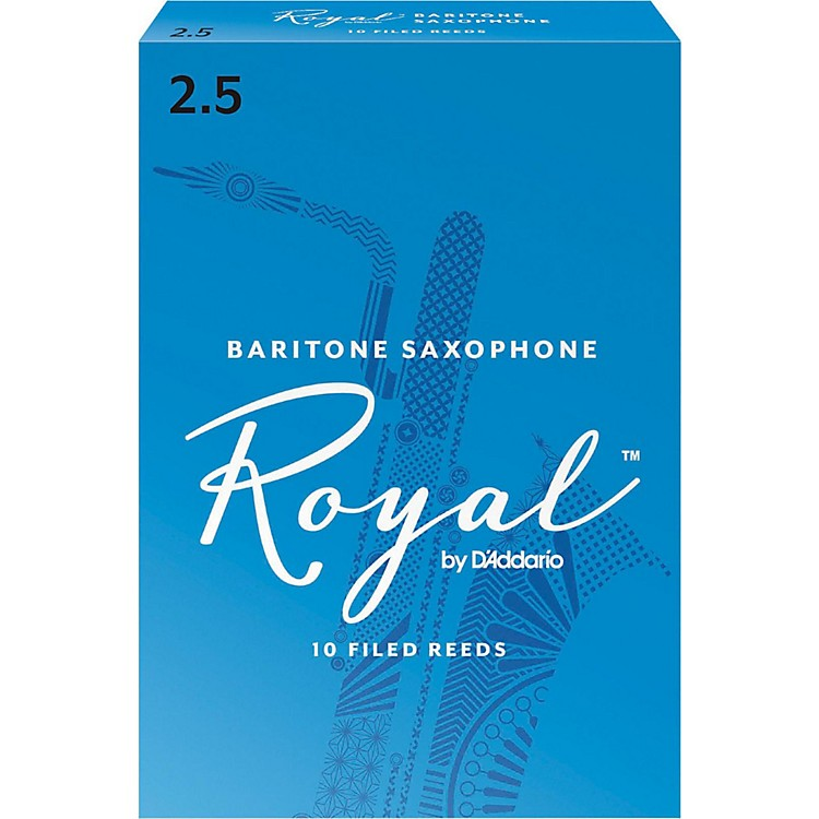 Rico RoyalBaritone Saxophone Reeds, Box of 10Strength 2.5
