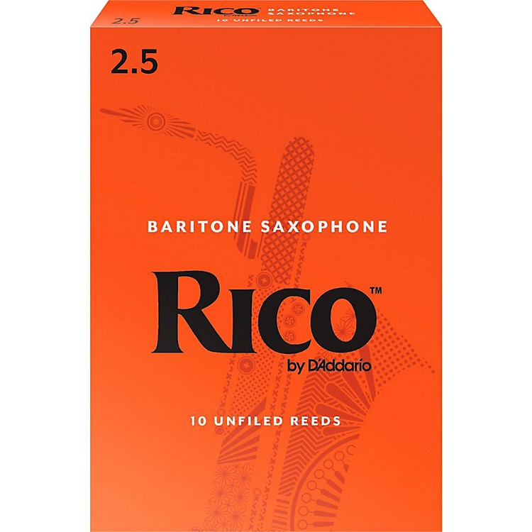 Rico Baritone Saxophone Reeds, Box of 10 Strength 2.5