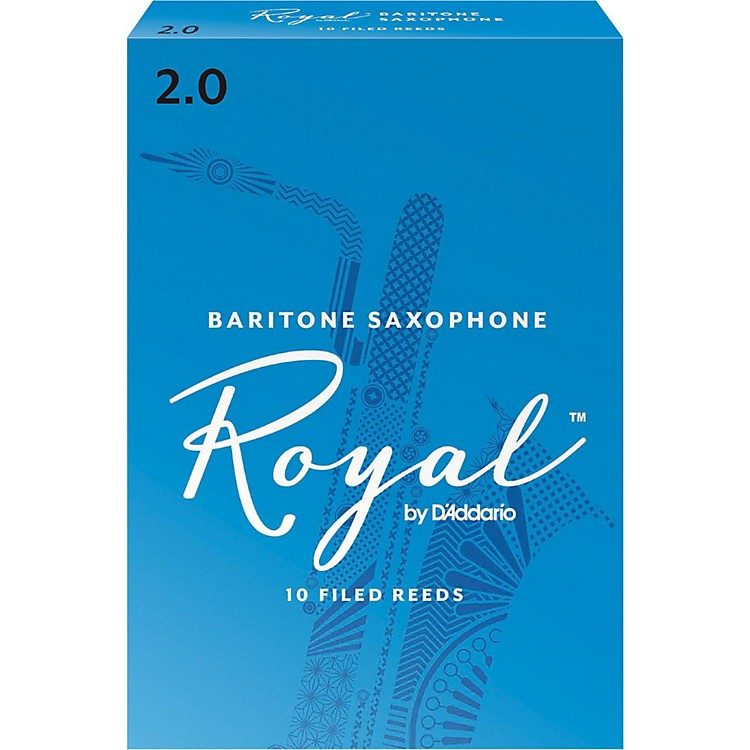 Rico Royal Baritone Saxophone Reeds, Box of 10 Strength 3.5