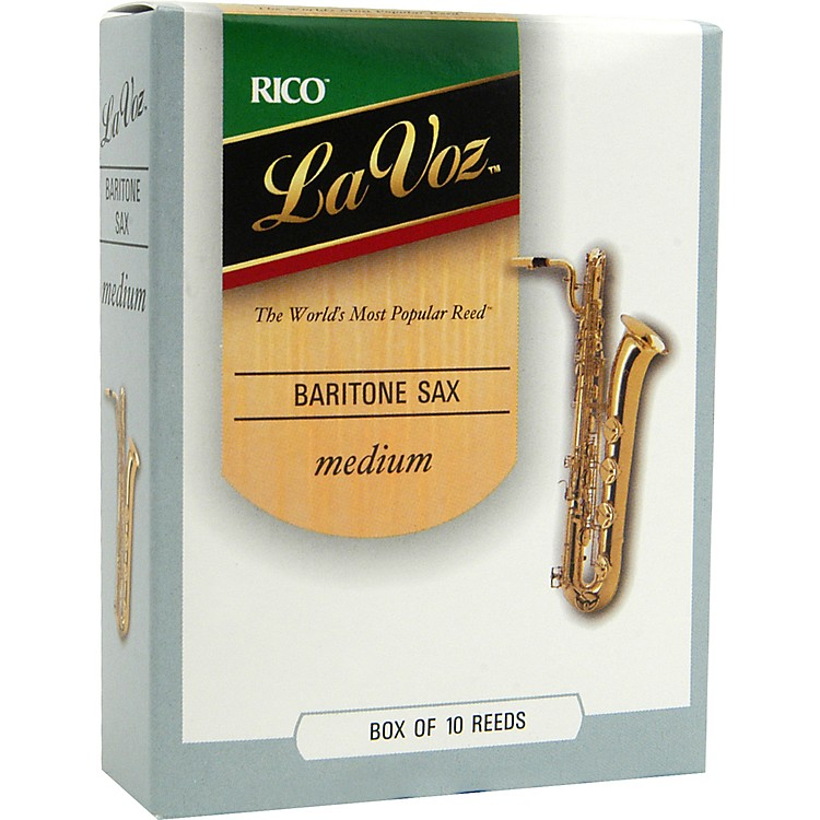 La Voz Baritone Saxophone Reeds Medium Hard Box of 10