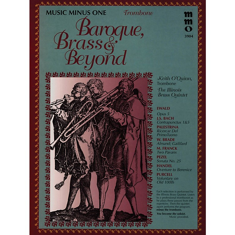 Music Minus OneBaroque, Brass & Beyond (Music Minus One Trombone) Music Minus One Series Softcover with CD by Various