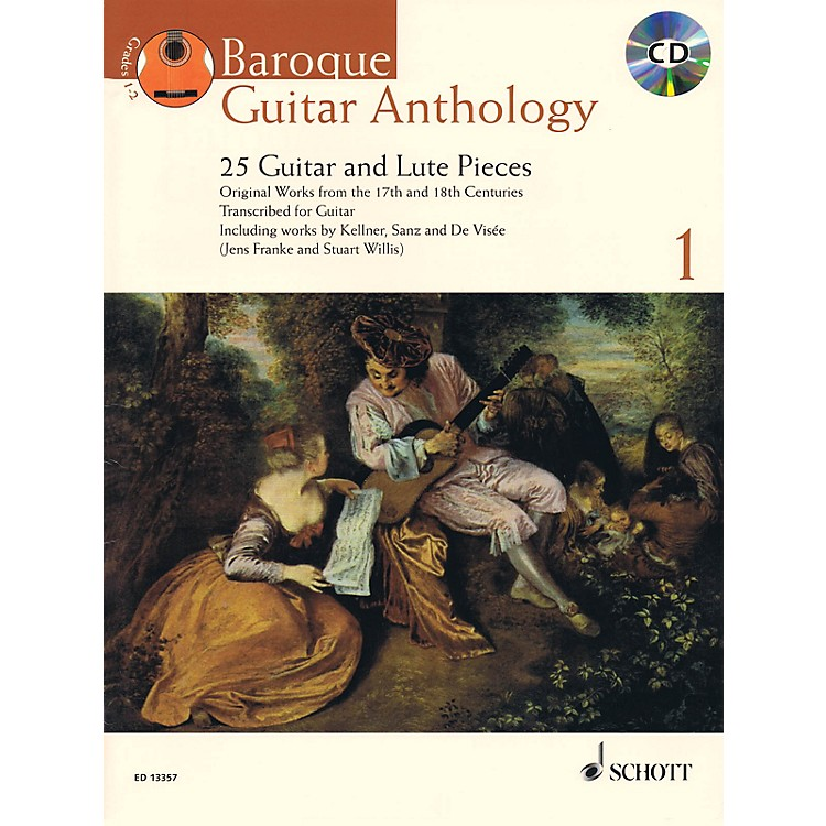 Schott Baroque Guitar Anthology  - Volume 1 Schott Series Softcover with CD