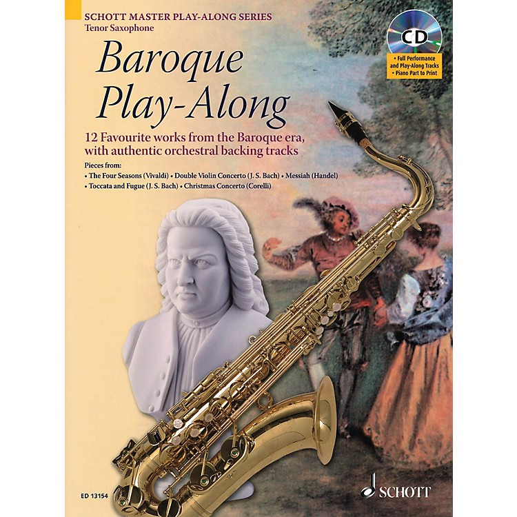 Schott Baroque Play-Along (12 Favorite Works from the Baroque Era) Instrumental Play-Along Series