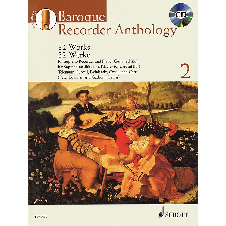 Schott Baroque Recorder Anthology - Volume 2 Woodwind Series Softcover with CD