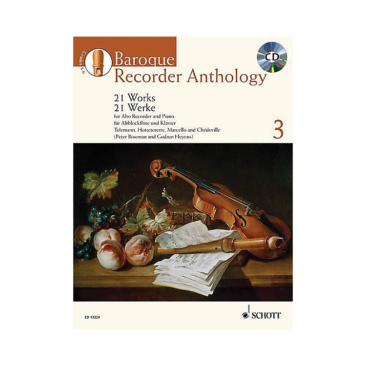 Schott Baroque Recorder Anthology - Volume 3 Schott Softcover with CD  by Various Edited by Gudrun Heyens