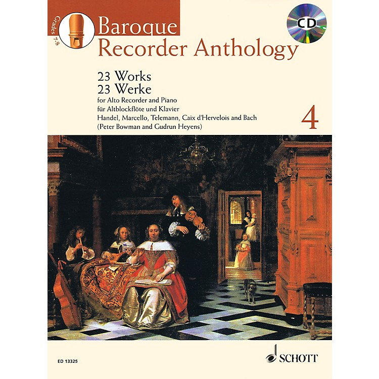 Schott Baroque Recorder Anthology, Vol. 4 Schott Softcover with CD  by Various Edited by Gudrun Heyens
