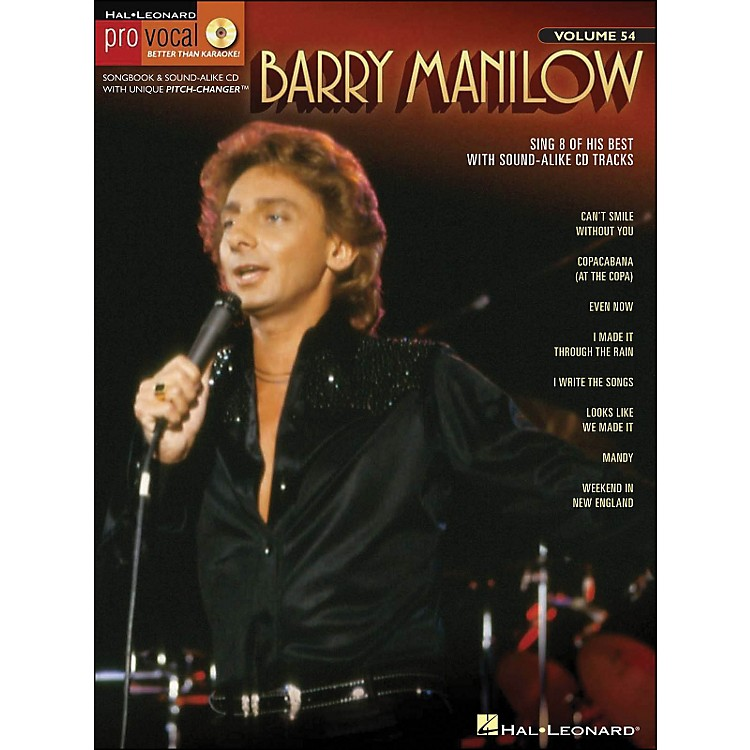 Hal Leonard Barry Manilow - Pro Vocal Songbook & CD for Male Singers Volume 54