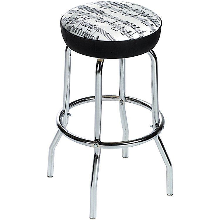 AIM Barstool Sheet Music White with Black Notes
