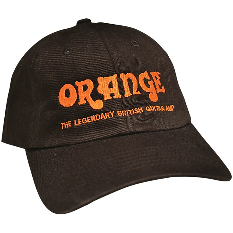 Orange Amplifiers Baseball Hat Black